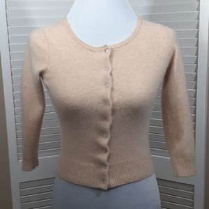 Beige Mossimo Cashmere Sweater-Long Sleeve